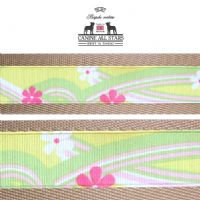 MARTINGALE DOG COLLAR - HAWAIIAN SWIRLS YELLOW